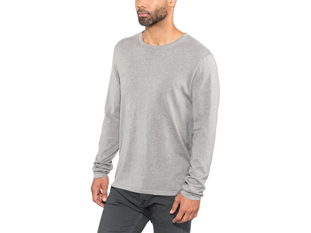 Alchemy Equipment 14 Gauge Camiseta seda manga larga cuello crew Hombre, light grey